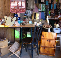 Items for sale at a Garage Sale